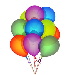 Multicolor Party Balloons vector image