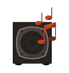 music speaker with notes vector image