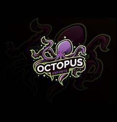 octopus sport mascot logo design vector image