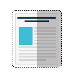 paper document file icon vector image