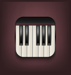 photorealistic piano keyboard icon design vector image