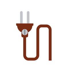 Plug and cord icon image vector