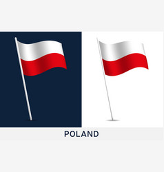 poland flag waving national flag poland vector image