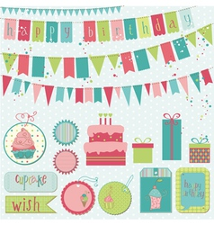 retro birthday celebration vector image