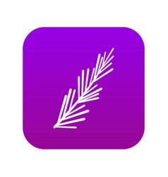 Rosemary spice icon digital purple vector