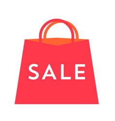 sale text on red bag flat for vector image