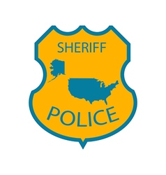 Sheriff police badge vector