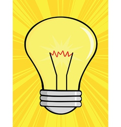 Shining light bulb vector
