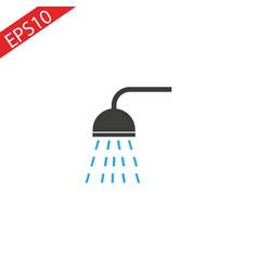 shower flat colored icon vector image