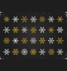 Snowflakes symbols collection vector