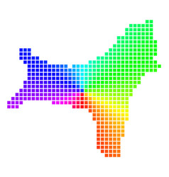 Spectral pixel christmas island map vector