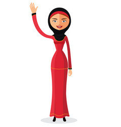 the beautiful muslim woman in a hijab vector image
