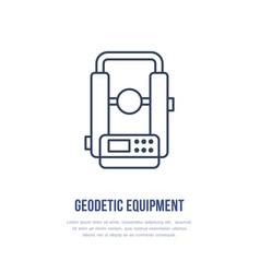 Theodolite geological survey engineering vector