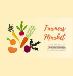 vegetables banners farmer market fall veggies vector image