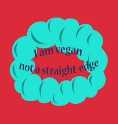 Vegetarian logo template design food logo flat vector