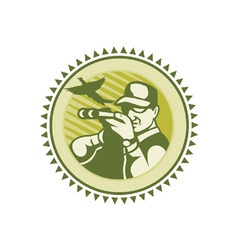 Vintage Hunter Icon vector