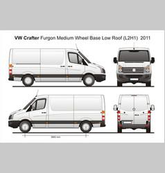 Volkswagen crafter delivery van l2h1 2011 vector