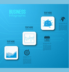 web business step infographic template vector image