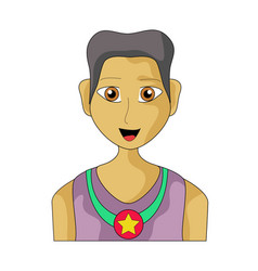 winner man clip art vector image