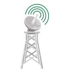 wireless connection cartoon icon vector image