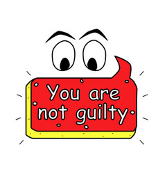 You are not guilty text icon poster color vector