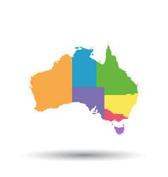 australia map icon flat australia sign symbol vector image vector image