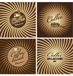 coffee spiral vector image vector image