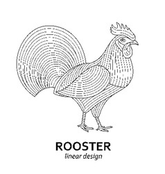 Creative stylized rooster vector