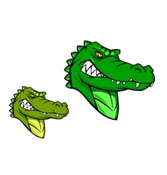 Green wild alligator vector
