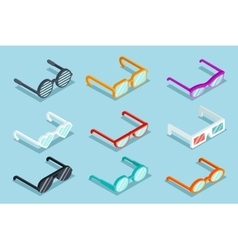 Isometric glasses vector image vector image