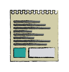 Torn sheet of paper note office vector