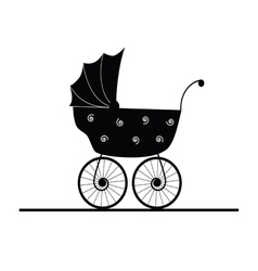 baby stroller cartoon vector image