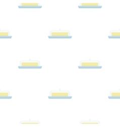 Butter icon cartoon single bio eco organic vector