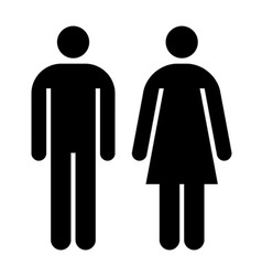 Male female sign vector image