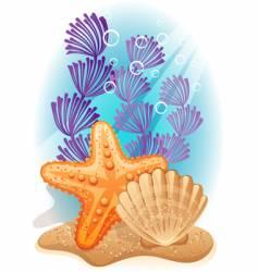 sea bottom vector image vector image