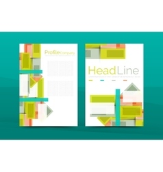 Straight lines geometric business report templates vector image vector image