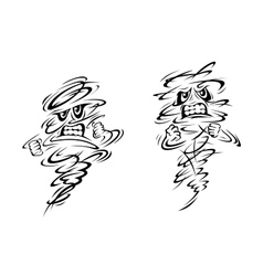 Two very angry ghosts or magical genies vector image vector image