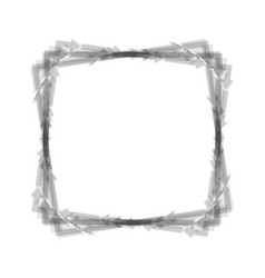 arrow on a square shape gray icon shaked vector image vector image