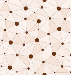 Atomic Background with Interconnected Brown Dots vector image vector image