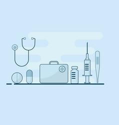 medical equipments supplies flat design vector image