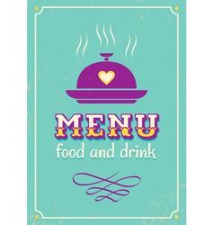 menu purple vector image vector image