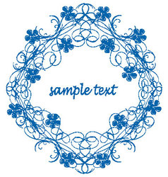 Antique frame ornament vector