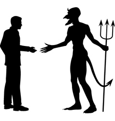 Devil business vector image vector image