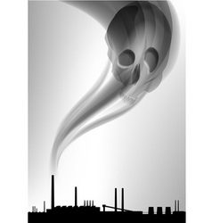 factory white curve black vector image vector image