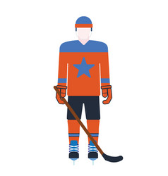 hockey player attribution clothes vector image