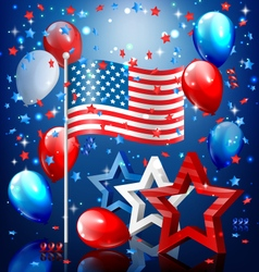Shiny USA celebration independence day concept vector image vector image