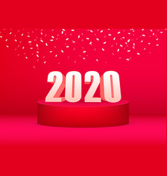 2020 happy new year advertising banner vector image