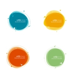 Abstract round banner vector