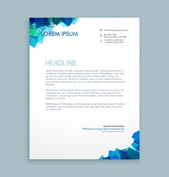 abstract shapes letterhead design vector image