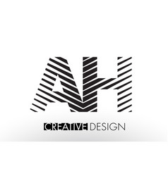 Ah a h lines letter design with creative elegant vector
